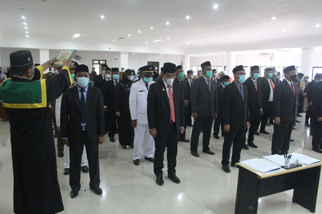 Suasana Pelantikan Pejabat Eselon II dan III dilingkungan Pemerintah Kabupaten Pidie Jaya